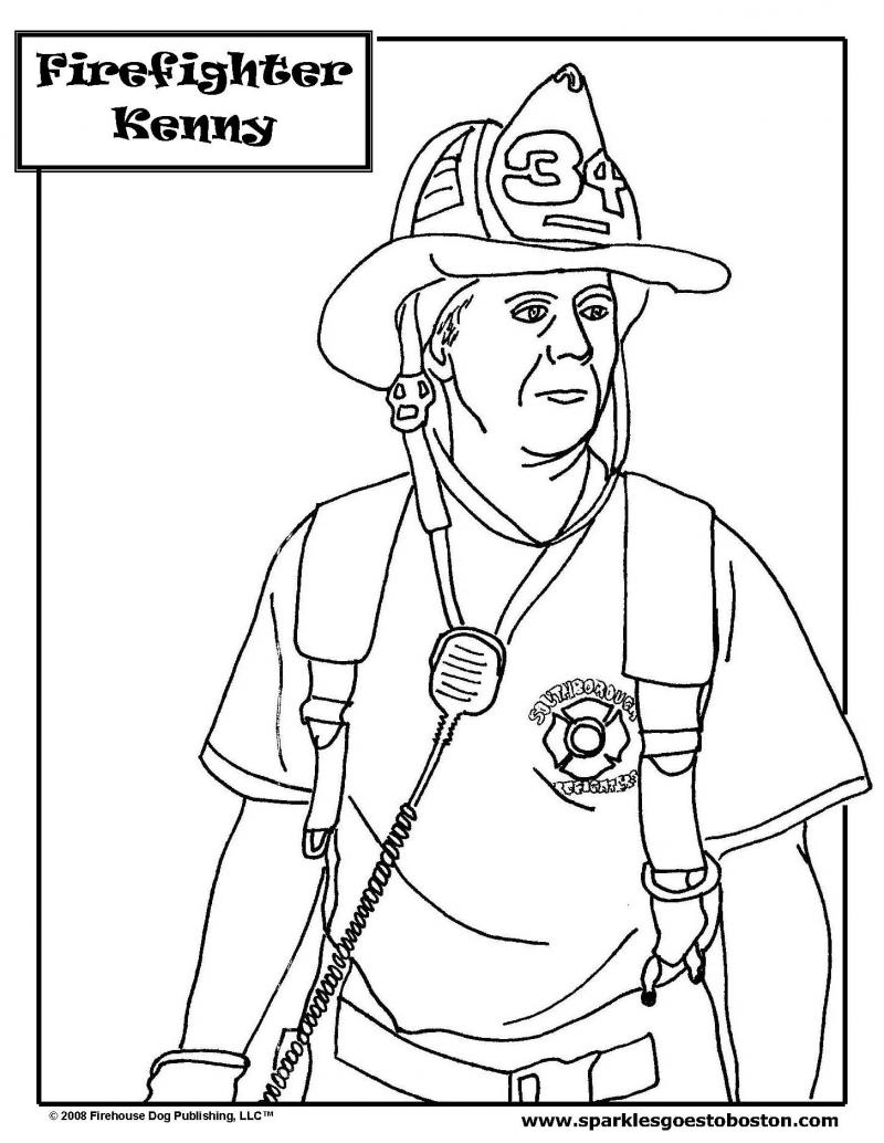 sparkles the fire safety dog - Firefighter Coloring Book